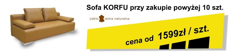 Sofa z pojemnikiem i funkcją spania Korfu